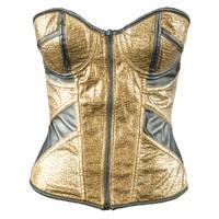 3d model golden corset