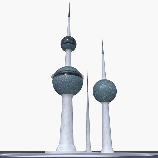 kuwait towers 3d max