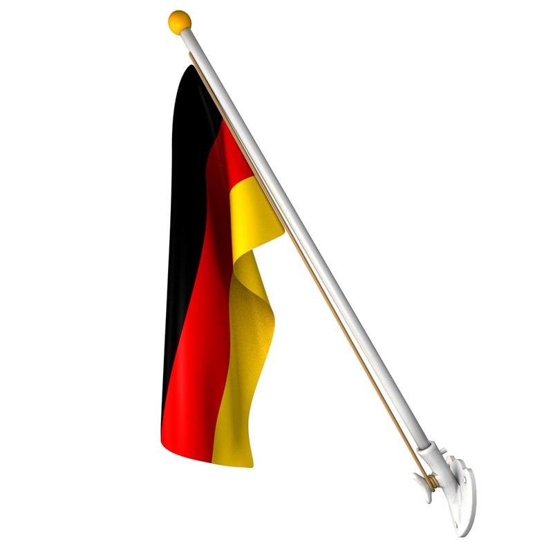 3d wall german flag 25 model
