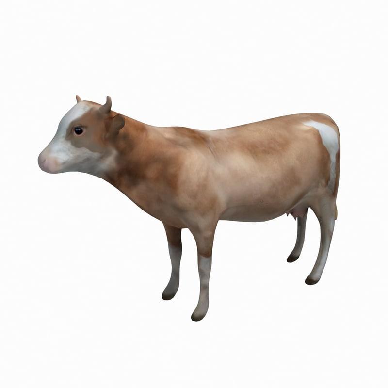 cow animation 3d obj