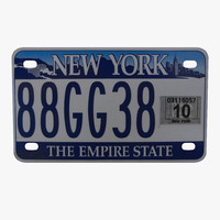 3d new york state license plate model