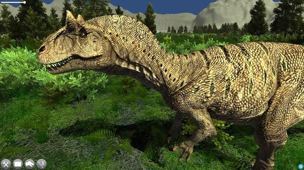accurate allosaurus 3d obj