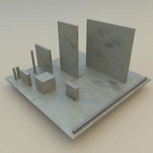 concrete slab obj