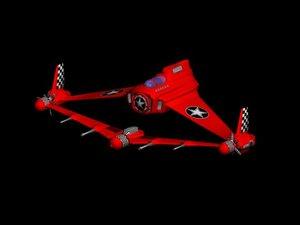 3d futuristic aircraft fantastic