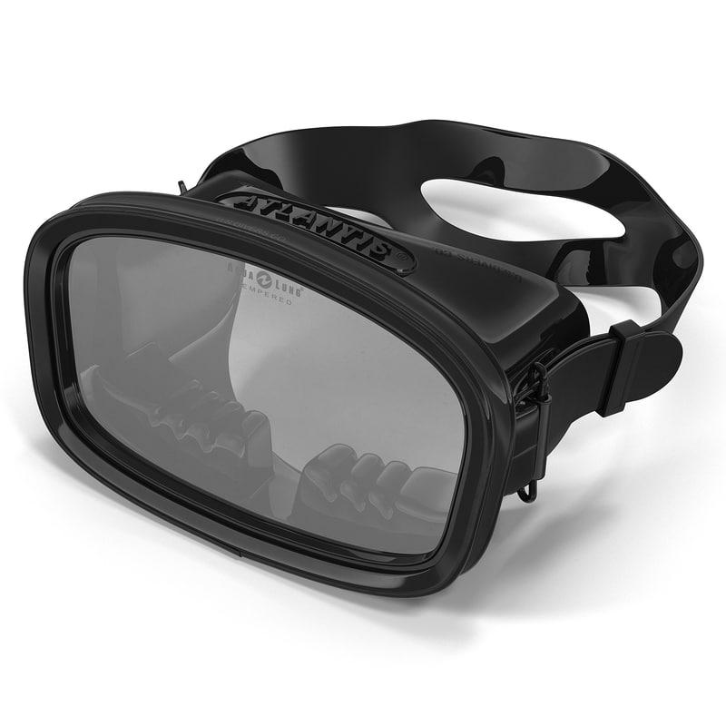 3d scuba mask model