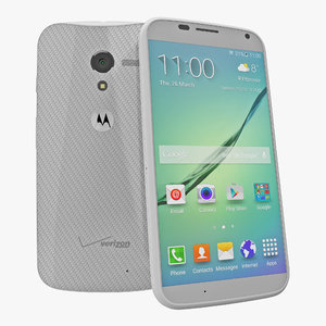 3d model motorola moto x white
