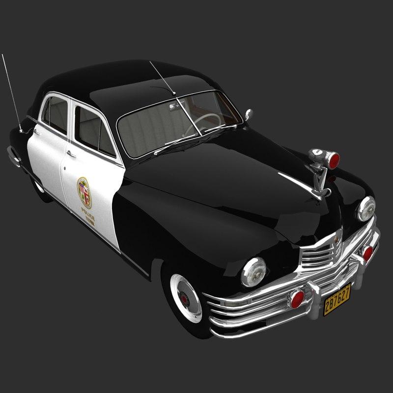 packard 1948 police sedan 3ds