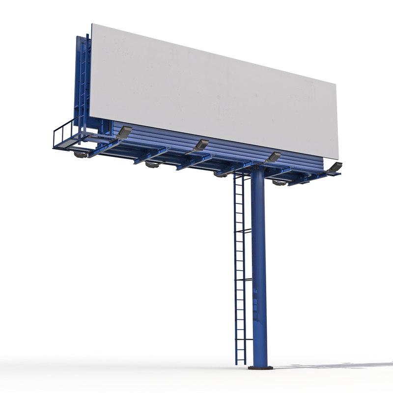 billboard 3 3d model