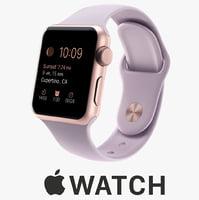 apple watch 38mm rose 3d c4d