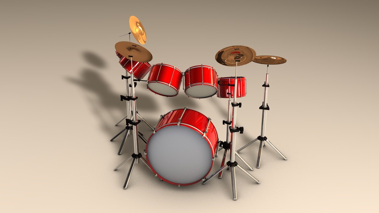 drums 3d c4d