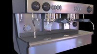3d model of espresso coffee machine