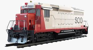 3d model gp30 soo 703 diesel