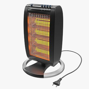 halogen heater 3d model