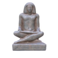 3d obj ancient egypt writer