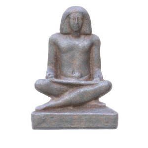 3d obj ancient egypt writer