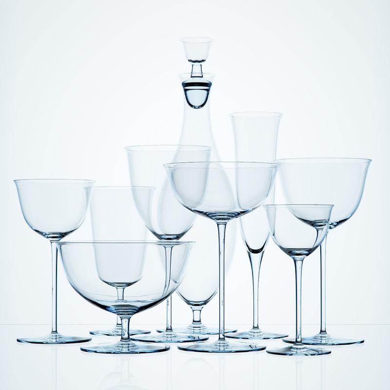 3d model photorealistic glasses