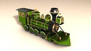 3d c4d locomotive steam