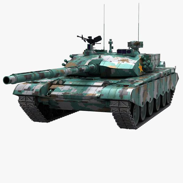 3d model pla tank ztz99 99