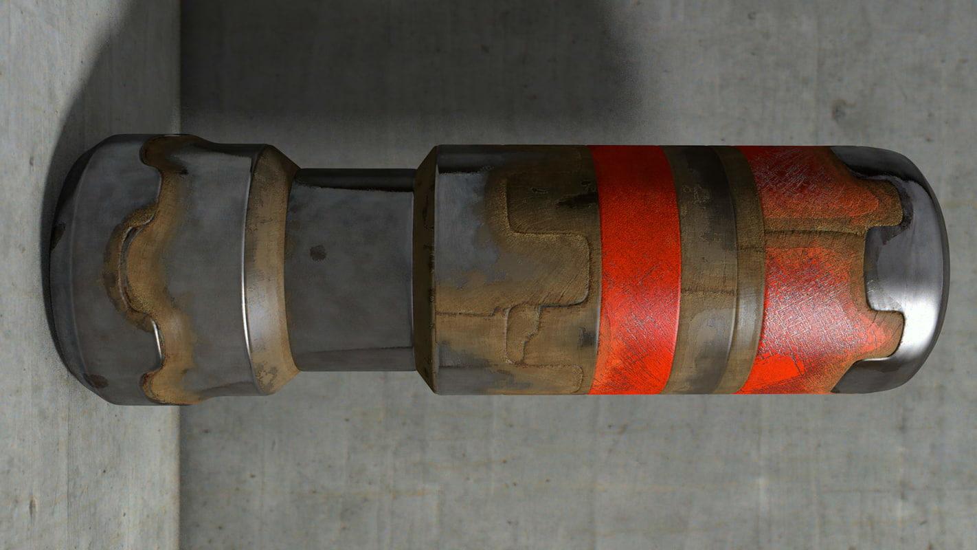 metallic piston 3d model