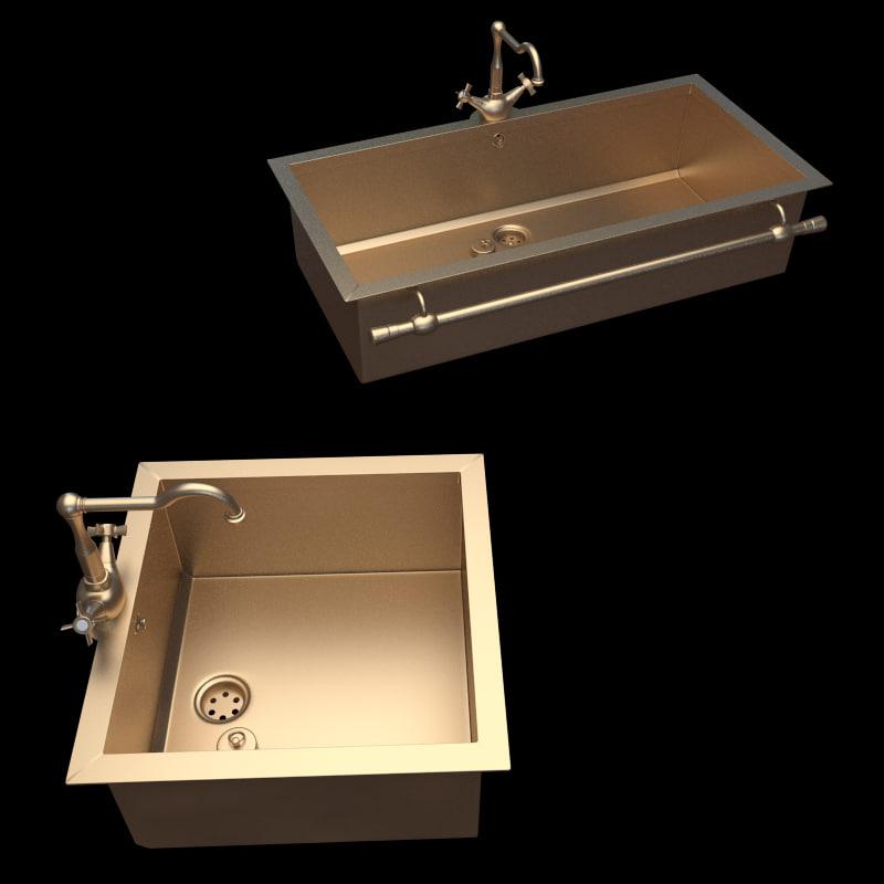 3d model sink lvq021 lvq027