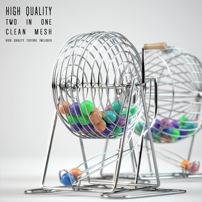 3d model bingo cages