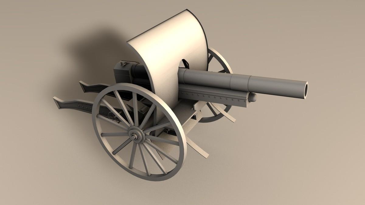 historical cannon obj
