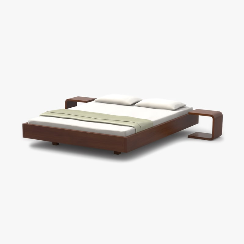 max simple bed cherry wood