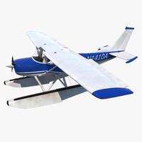 Cessna 150 Seaplane Rigged