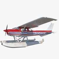 3ds max cessna 150 seaplane rigged