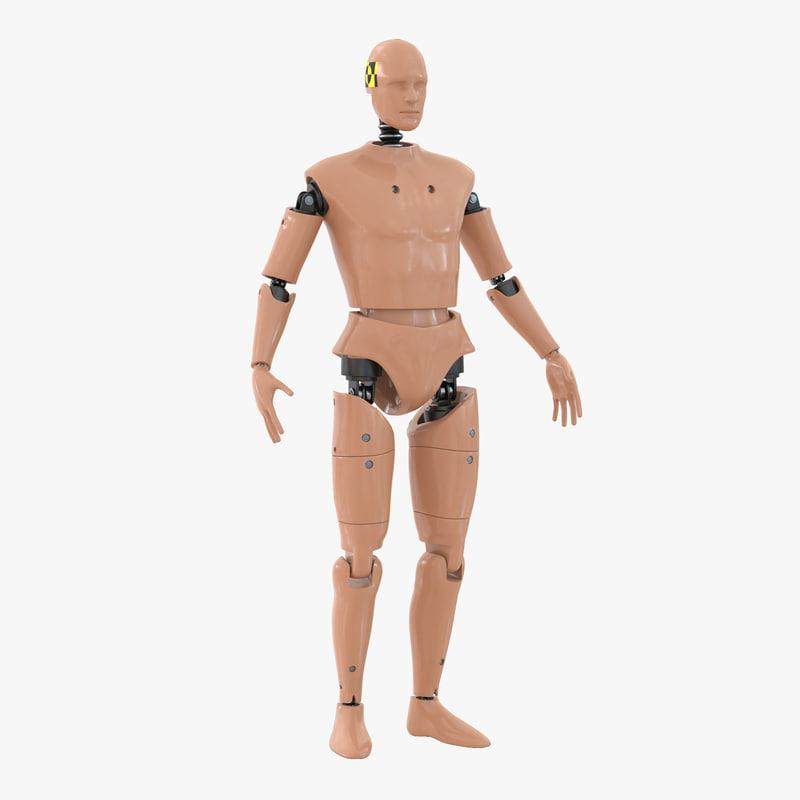3d model male crash test dummy