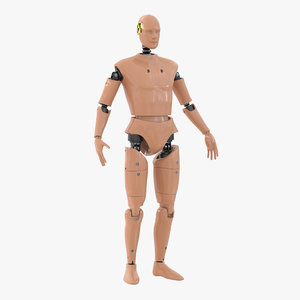 3d model male crash test dummy