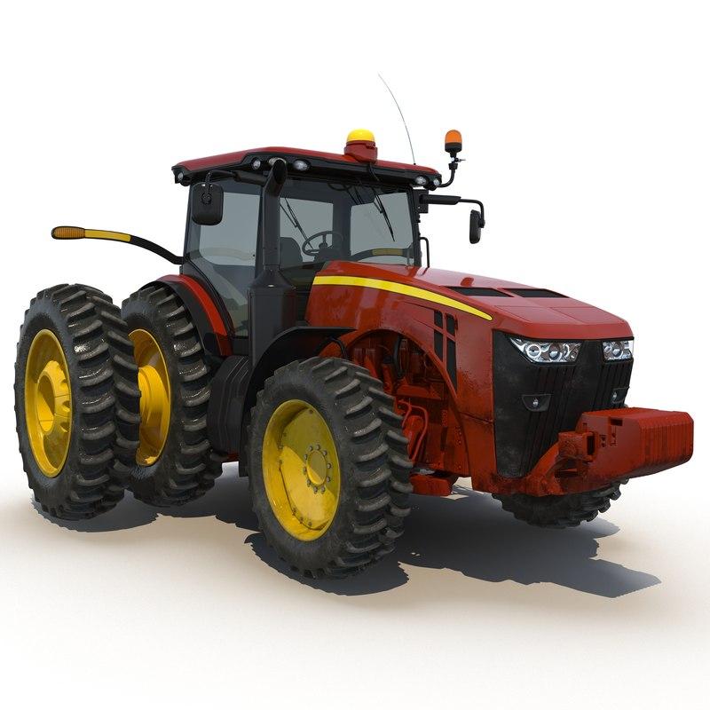 3d tractor generic 3 model