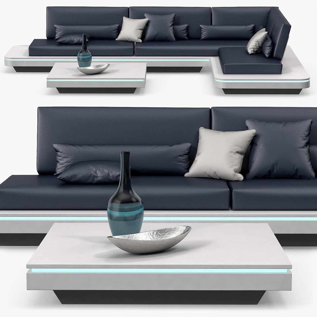 3d model manutti - elements sofa