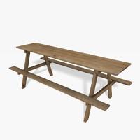 garden table obj free