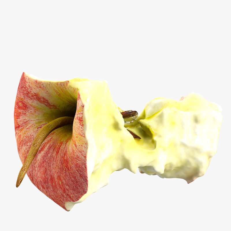 3d realistic stub apple model