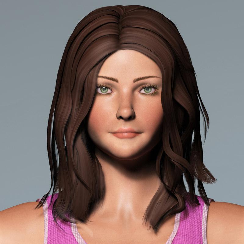max mero rigged realistic female