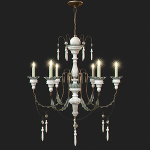 small percival chandelier 3d max