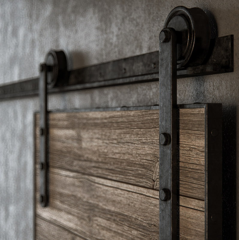 industrial old sliding barn max
