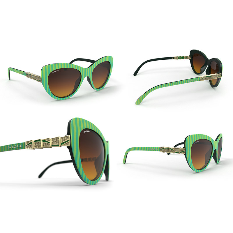 stylish bvlgari sunglasses 3d max