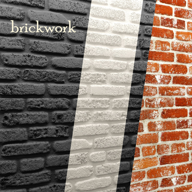 3d bricks wall model