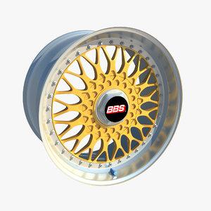 3d model wheel bbs rs