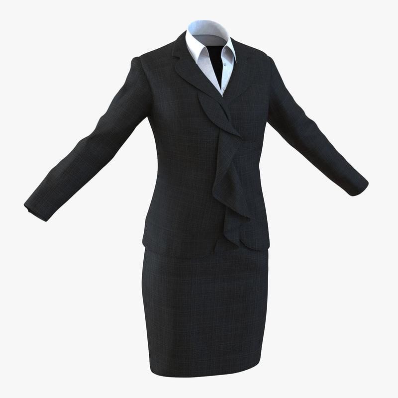 formal skirt suit 2 3ds
