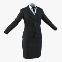 formal skirt suit 2 3ds