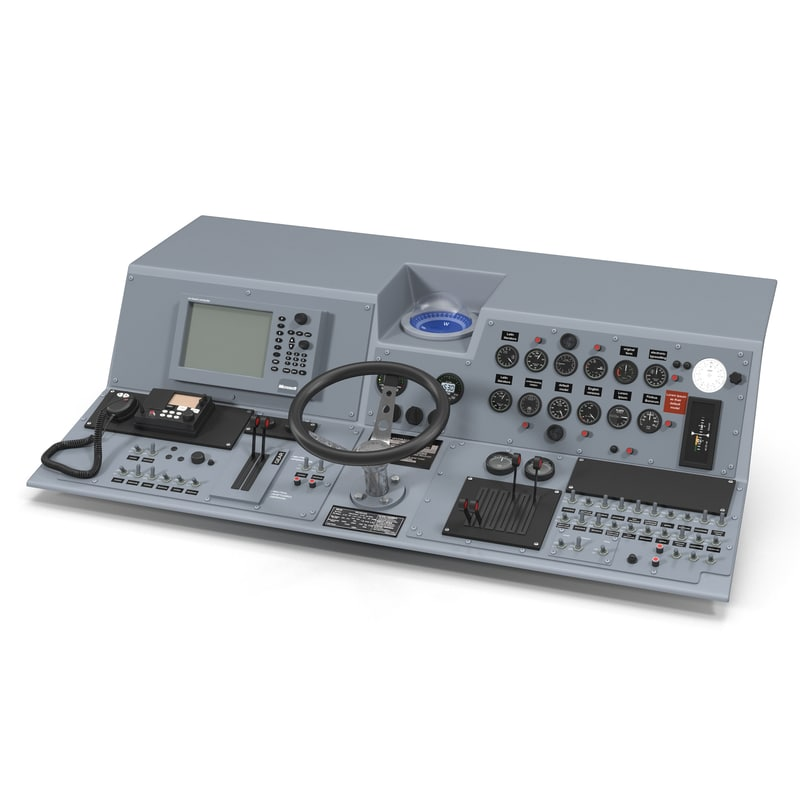 Boat Control Panels : D model military boat control panel