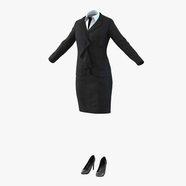 formal skirt suit 3d 3ds