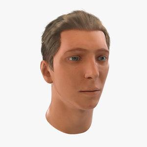 male head rigged 3d max