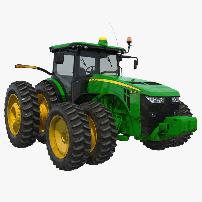 3d model tractor john deere 8rt