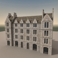 3d model european building europe