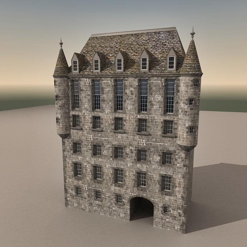 european building europe 3d max