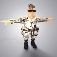 cartoon police man 3d model
